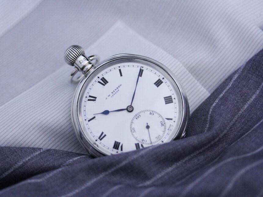 ベンソンのアンティーク懐中時計-P2213-3