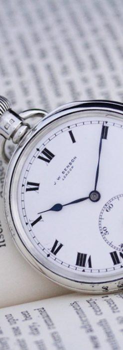 ベンソンのアンティーク懐中時計-P2213-4