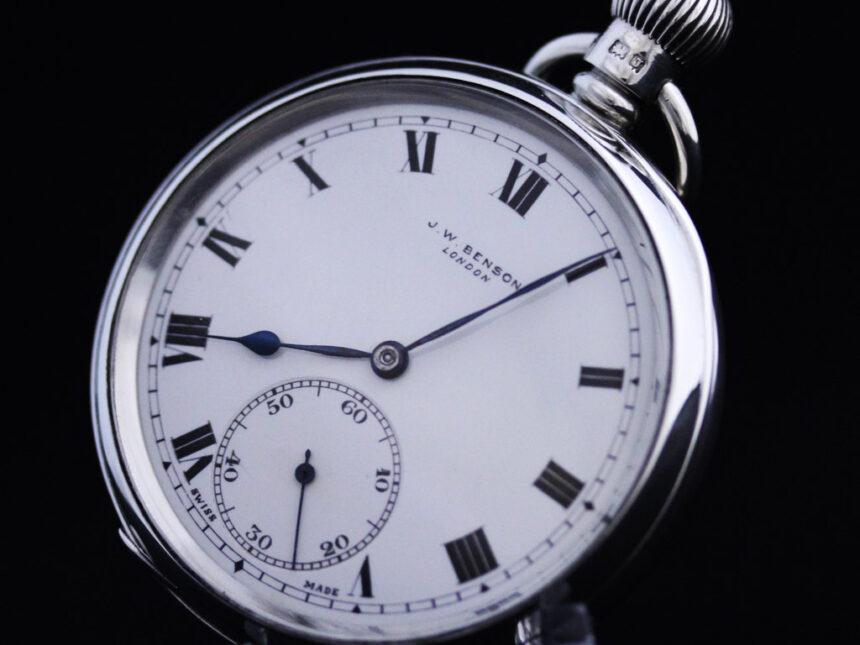 ベンソンのアンティーク懐中時計-P2213-7