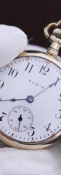 エルジンのアンティーク懐中時計-P2215-1