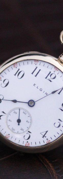 エルジンのアンティーク懐中時計-P2215-2