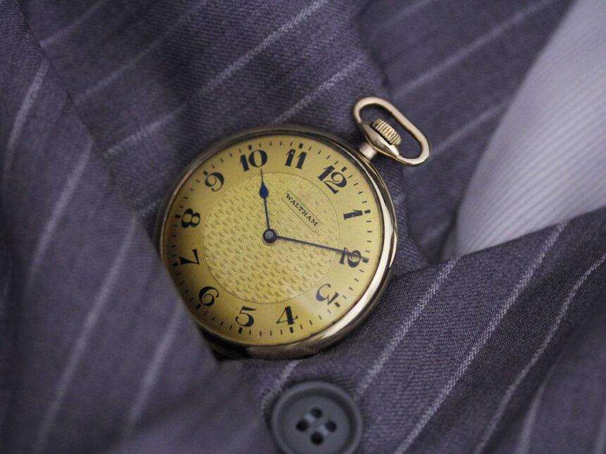 ウォルサムのアンティーク懐中時計-P2218-2