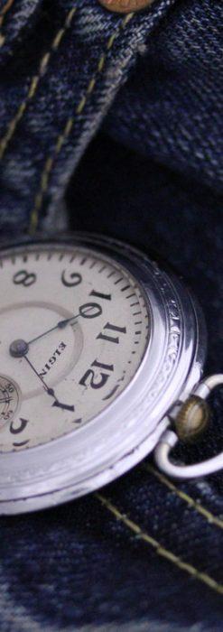 エルジンのアンティーク懐中時計-P2221-1