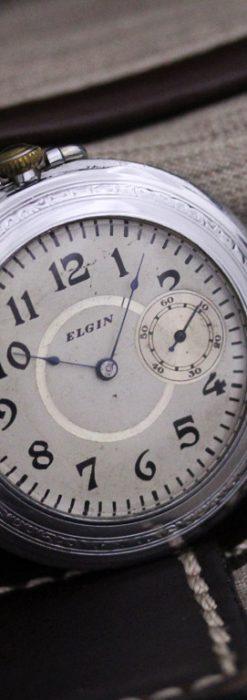 エルジンのアンティーク懐中時計-P2221-2
