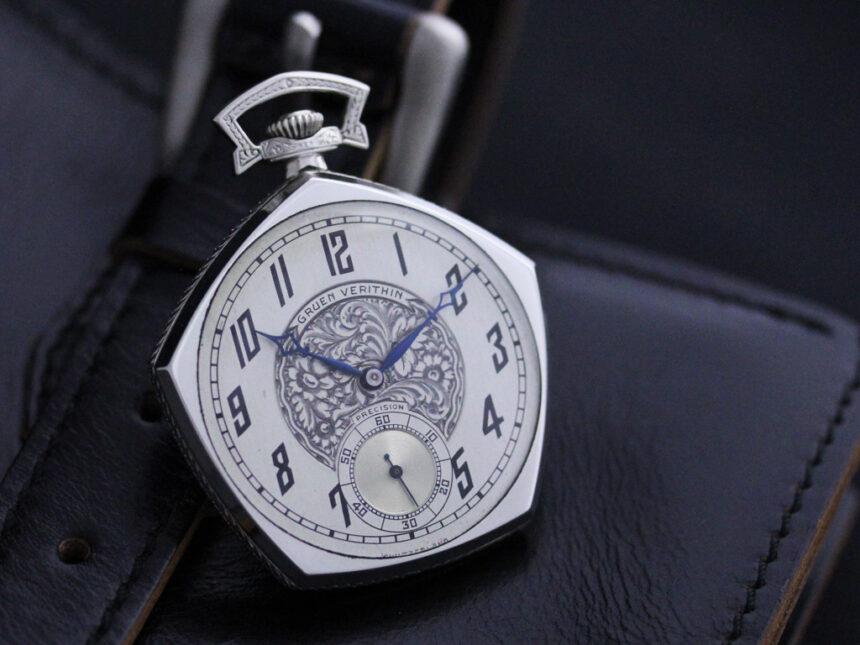グリュエンのアンティーク懐中時計-P2222-1
