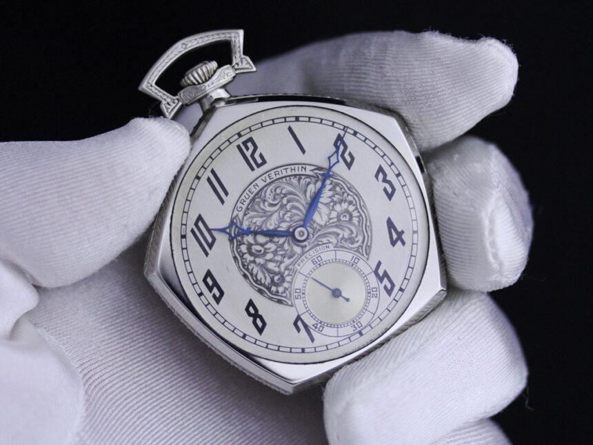グリュエンのアンティーク懐中時計-P2222-11