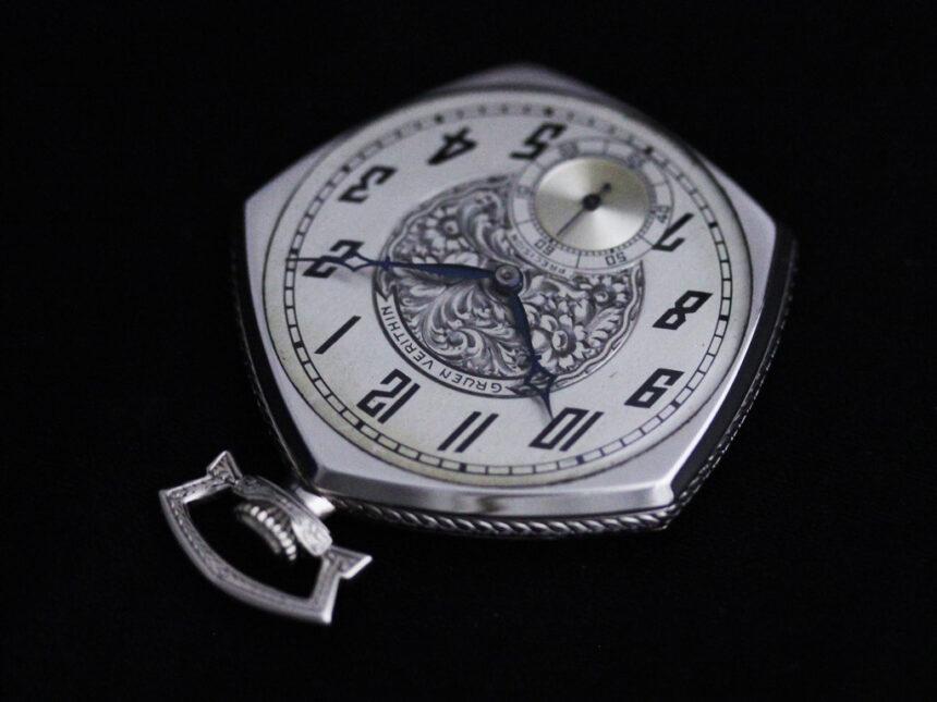 グリュエンのアンティーク懐中時計-P2222-14