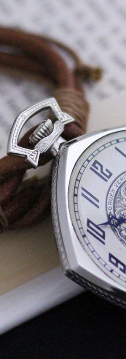 グリュエンのアンティーク懐中時計-P2222-2