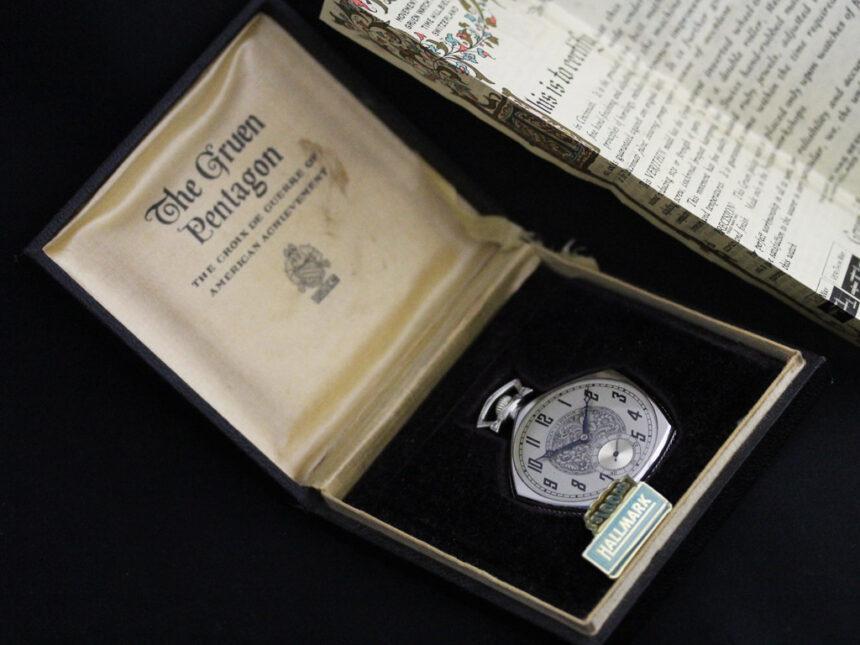 グリュエンのアンティーク懐中時計-P2222-21