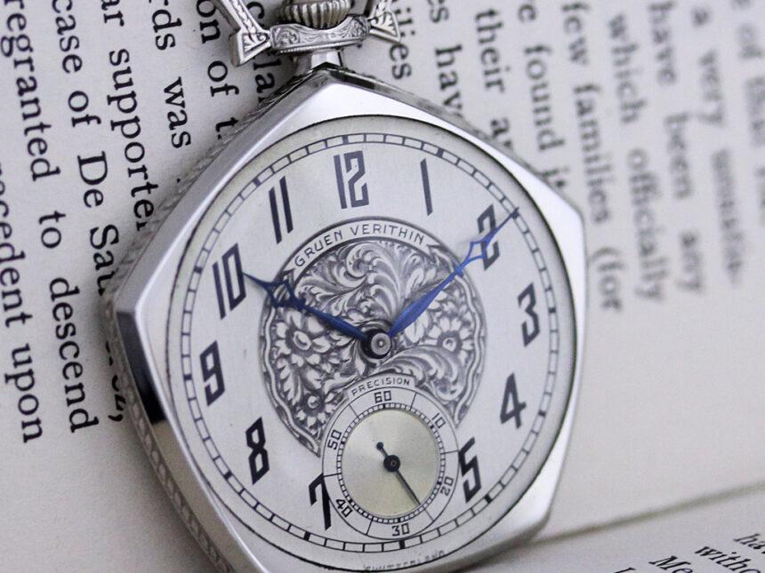 グリュエンのアンティーク懐中時計-P2222-3