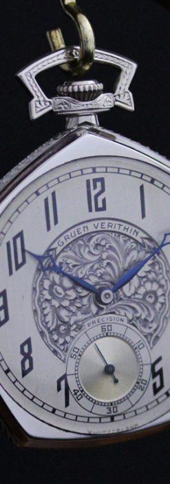 グリュエンのアンティーク懐中時計-P2222-9