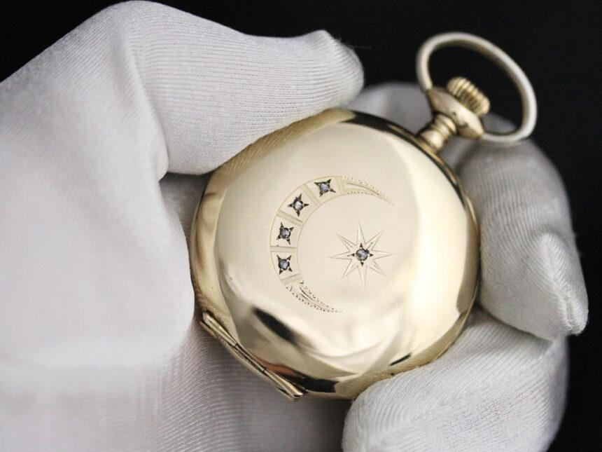 エルジンのアンティーク懐中時計-P2226-4