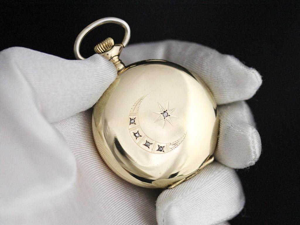 エルジンのアンティーク懐中時計-P2226-5