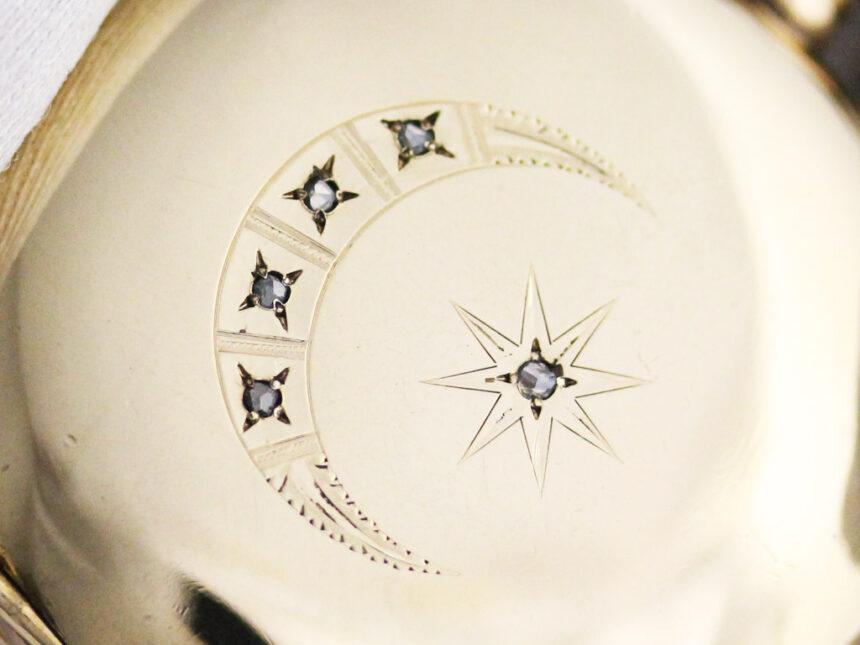 エルジンのアンティーク懐中時計-P2226-7