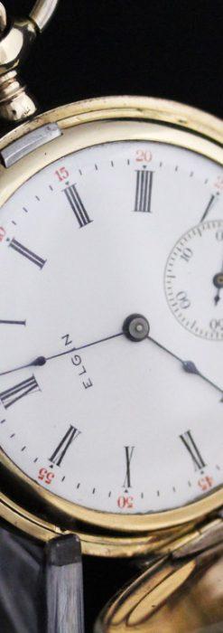 エルジンのアンティーク懐中時計-P2226-9