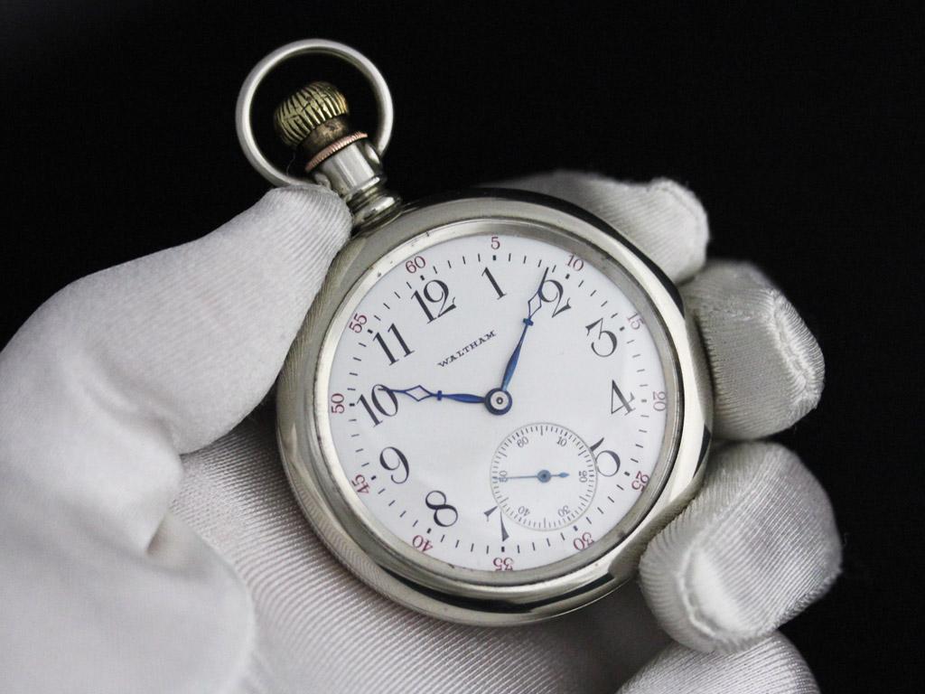 ウォルサムのアンティーク懐中時計-P2227-3