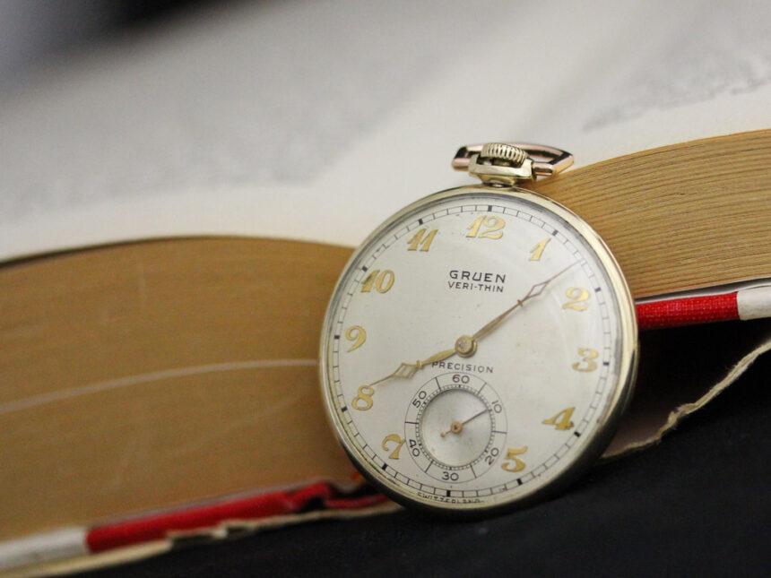 グリュエンのアンティーク懐中時計-P2228-1