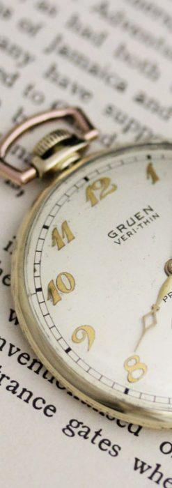 グリュエンのアンティーク懐中時計-P2228-2