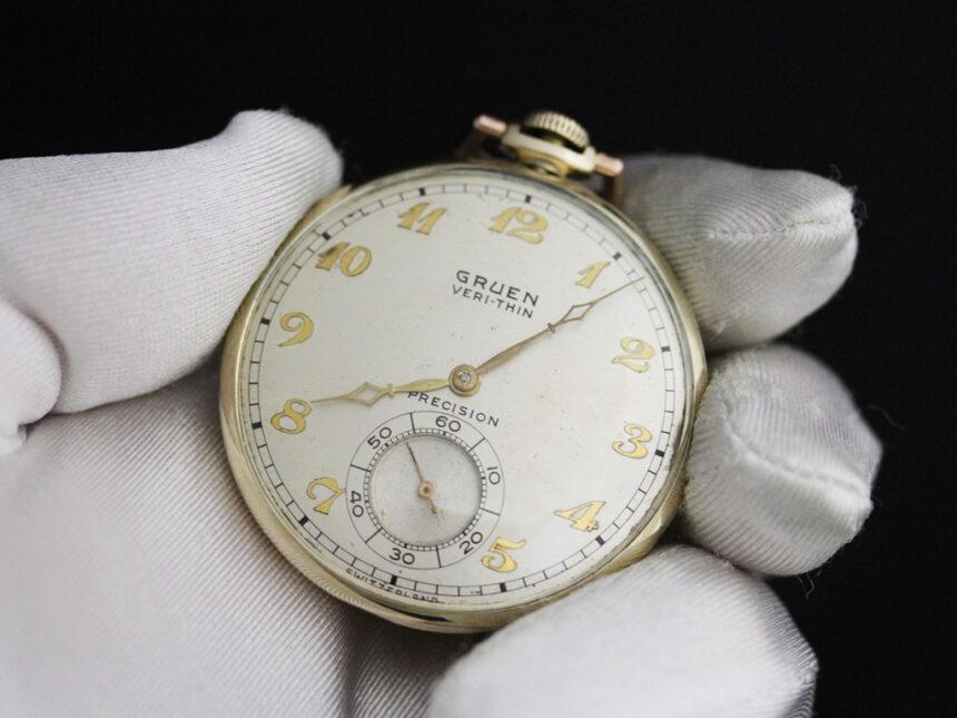 グリュエンのアンティーク懐中時計-P2228-3