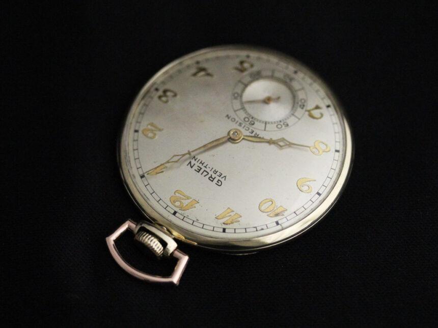 グリュエンのアンティーク懐中時計-P2228-5
