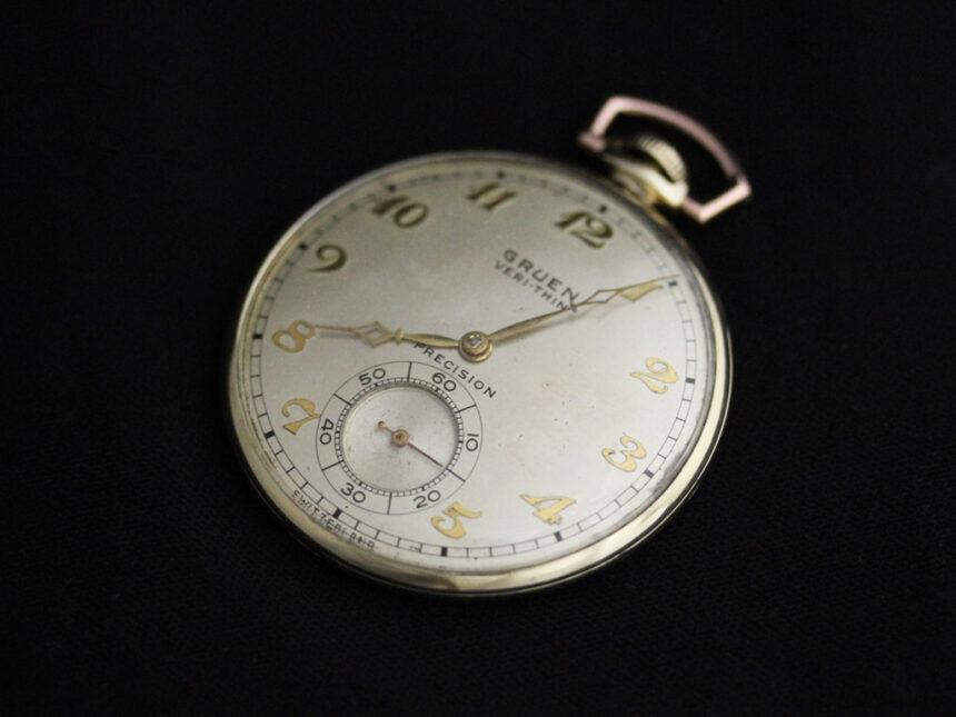 グリュエンのアンティーク懐中時計-P2228-6