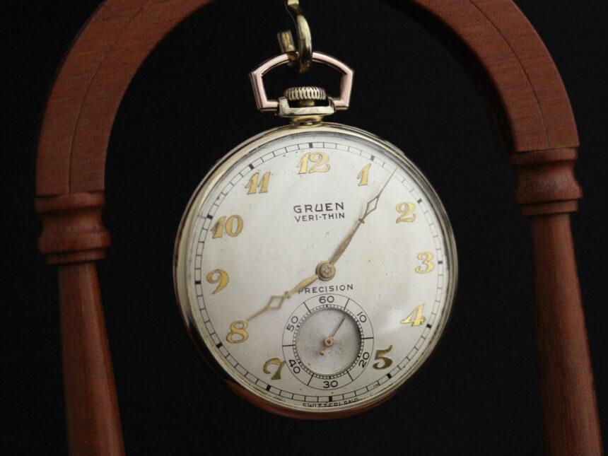 グリュエンのアンティーク懐中時計-P2228-7