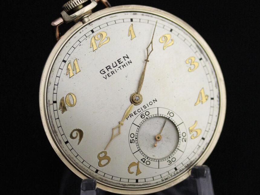 グリュエンのアンティーク懐中時計-P2228-8