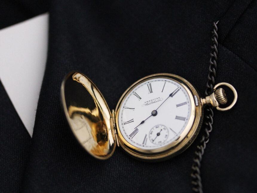 ウォルサムのアンティーク懐中時計-P2229-2