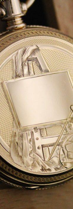 エルジンのアンティーク懐中時計-P2230-1