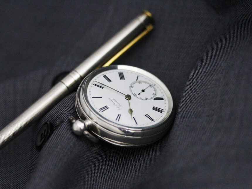 ベンソンのアンティーク懐中時計-P2236-1
