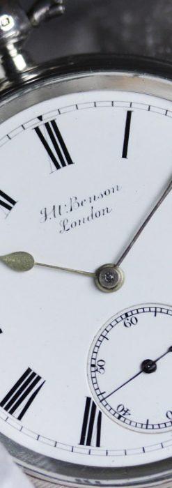 ベンソンのアンティーク懐中時計-P2236-4