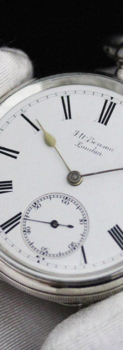 ベンソンのアンティーク懐中時計-P2236-5