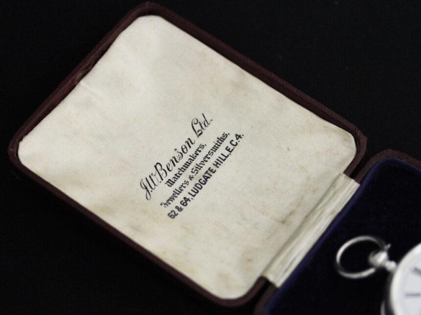 ベンソンのアンティーク懐中時計-P2236-9