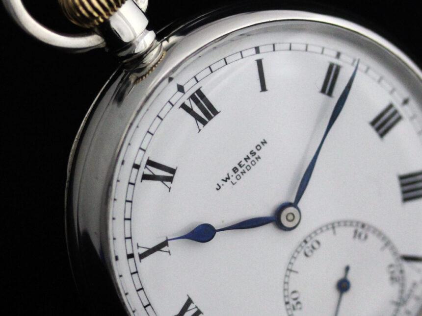 ベンソンのアンティーク懐中時計-P2244-10