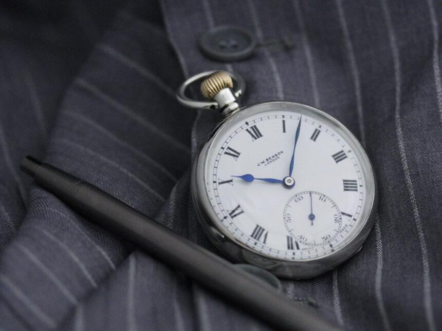 ベンソンのアンティーク懐中時計-P2244-2