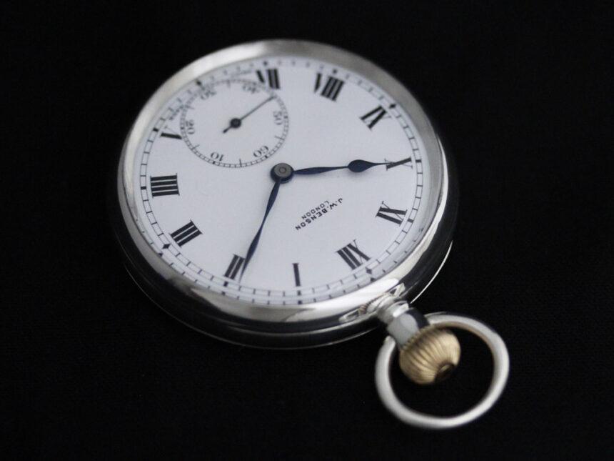 ベンソンのアンティーク懐中時計-P2244-7