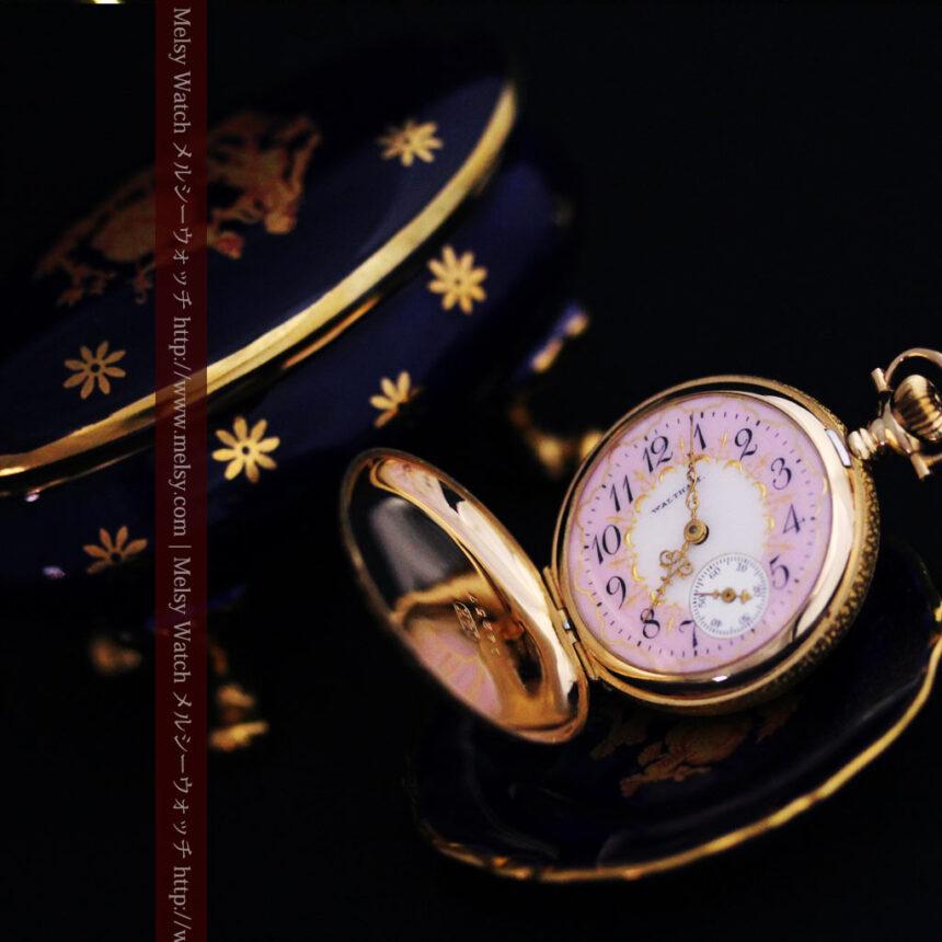 ウォルサムの金無垢アンティーク懐中時計-P2247-1