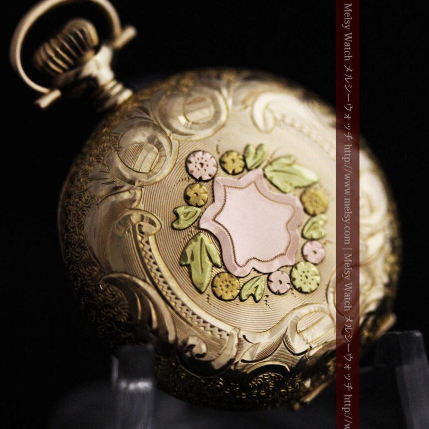 ウォルサムの金無垢アンティーク懐中時計-P2247-10