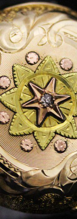 ウォルサムの金無垢アンティーク懐中時計-P2247-11