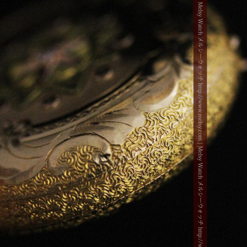 ウォルサムの金無垢アンティーク懐中時計-P2247-13