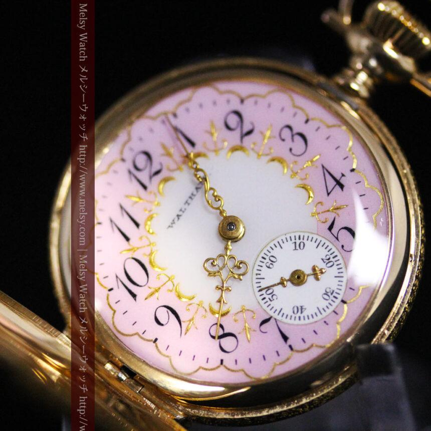 ウォルサムの金無垢アンティーク懐中時計-P2247-14