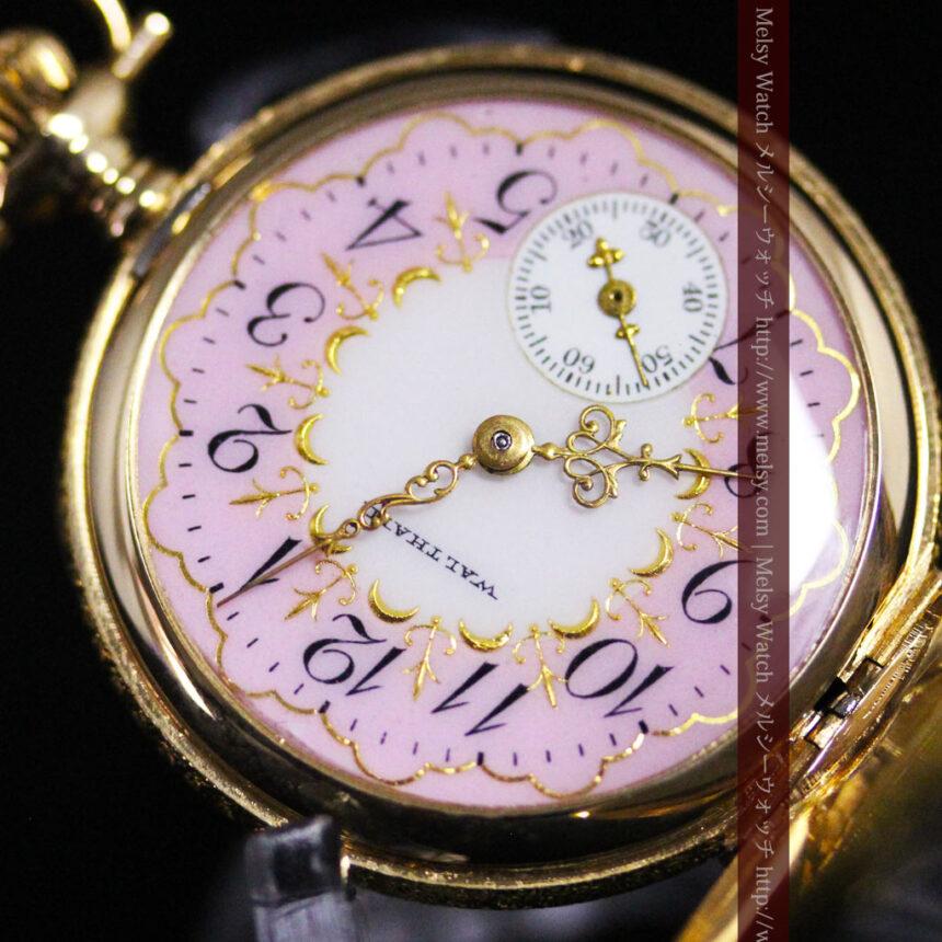 ウォルサムの金無垢アンティーク懐中時計-P2247-15