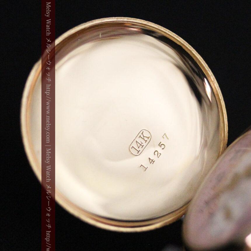 ウォルサムの金無垢アンティーク懐中時計-P2247-16