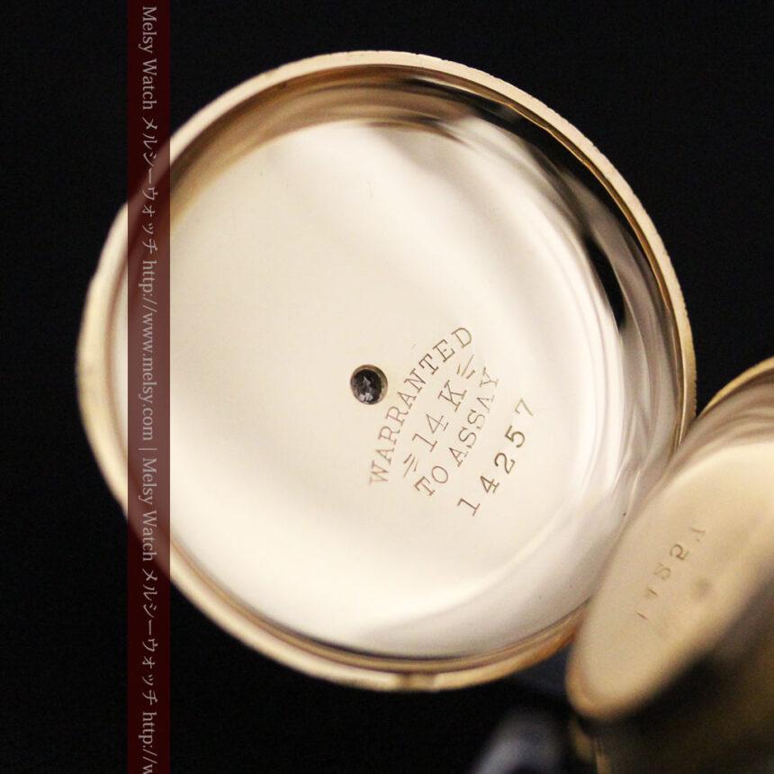 ウォルサムの金無垢アンティーク懐中時計-P2247-17