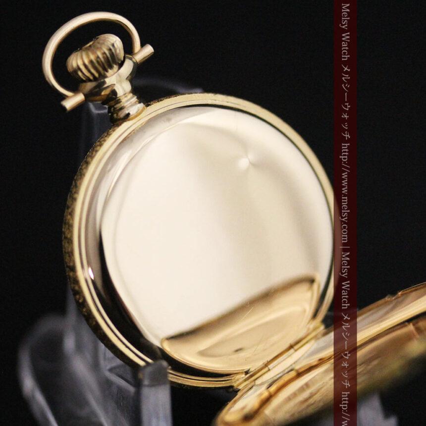 ウォルサムの金無垢アンティーク懐中時計-P2247-18