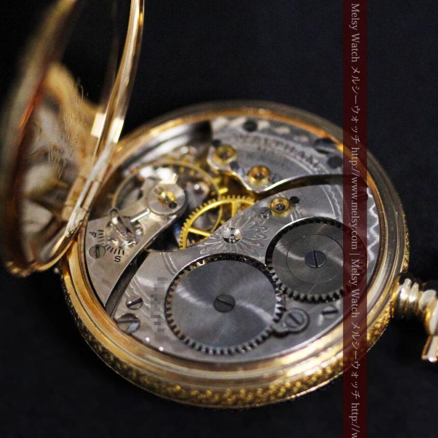 ウォルサムの金無垢アンティーク懐中時計-P2247-20
