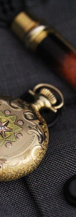 ウォルサムの金無垢アンティーク懐中時計-P2247-4