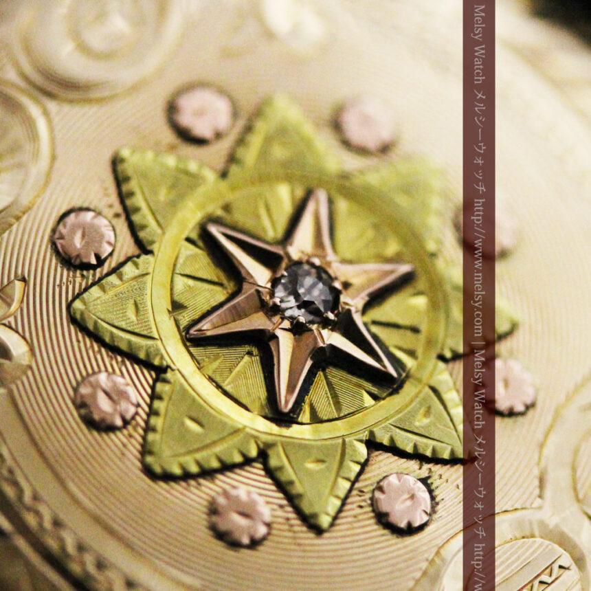 ウォルサムの金無垢アンティーク懐中時計-P2247-5