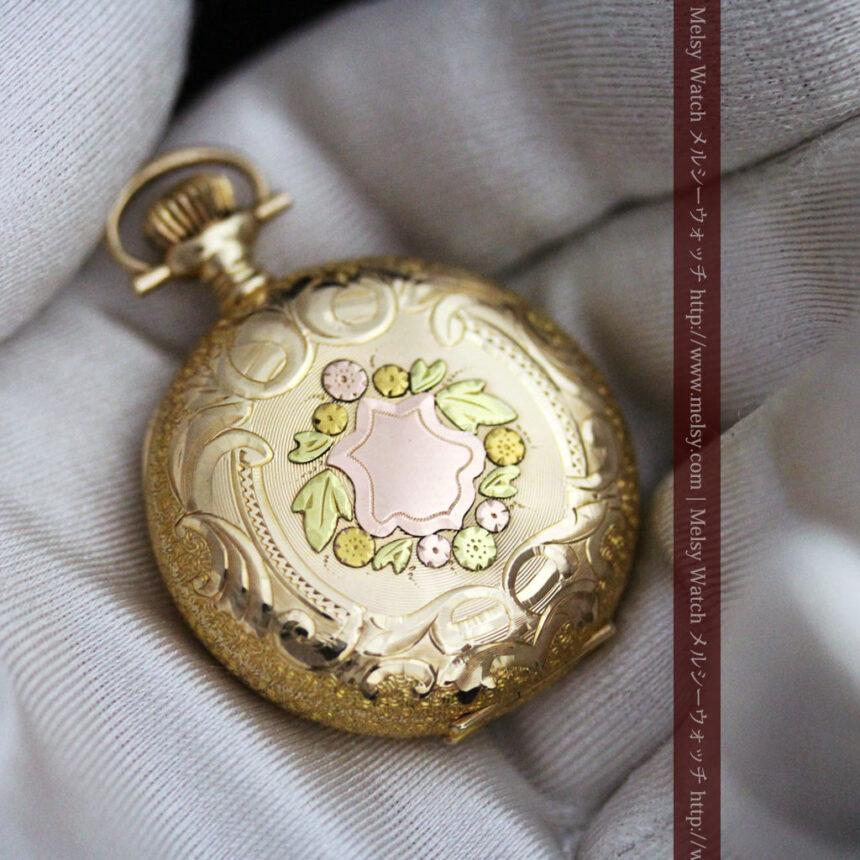 ウォルサムの金無垢アンティーク懐中時計-P2247-7