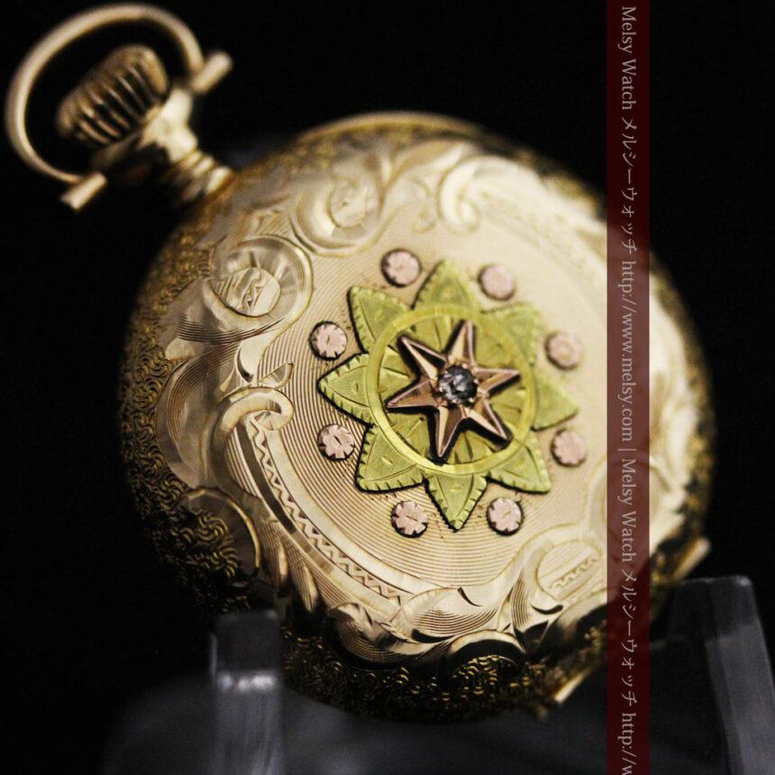 ウォルサムの金無垢アンティーク懐中時計-P2247-9